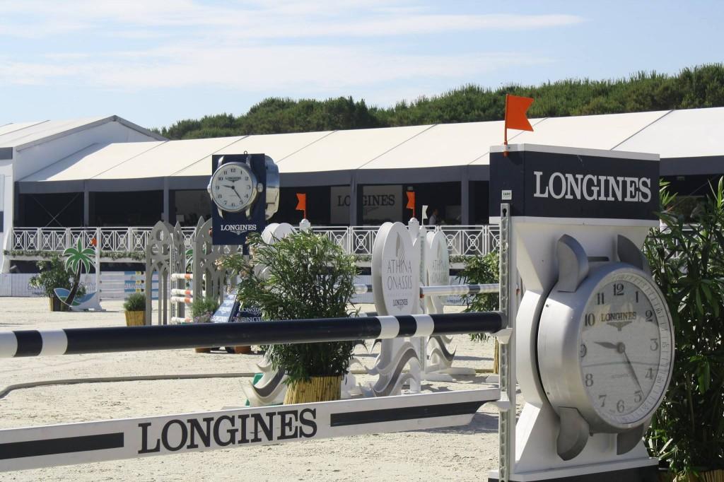 Parcours d'obstacles du Athina Onassis Horse Show à Pampelonne