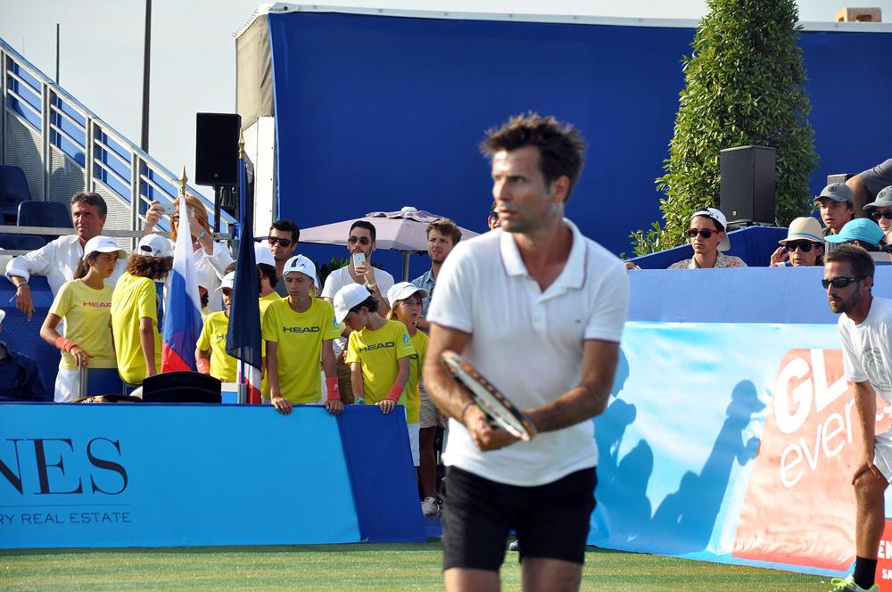 Saint-Tropez Classic Tennis Tour 2015 - Fabrice Santoro en plein match