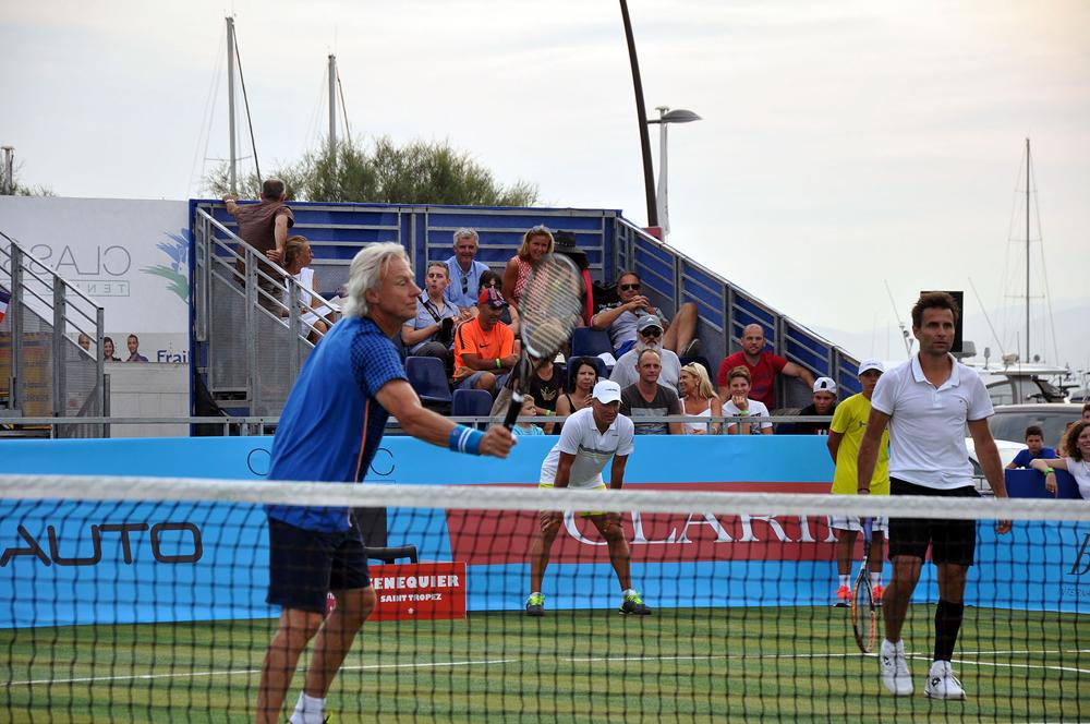 Saint-Tropez Classic Tennis Tour 2015 - Double Björn Borg & Fabrice Santoro VS Henri Leconte & Mansour Bahrami