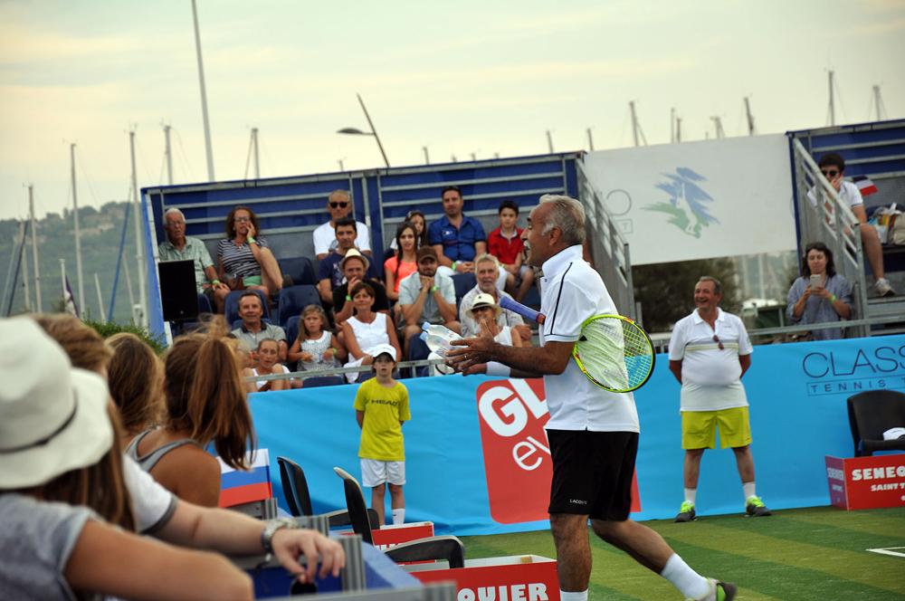 Saint-Tropez Classic Tennis Tour 2015 - Le Showman Mansour Bahrami