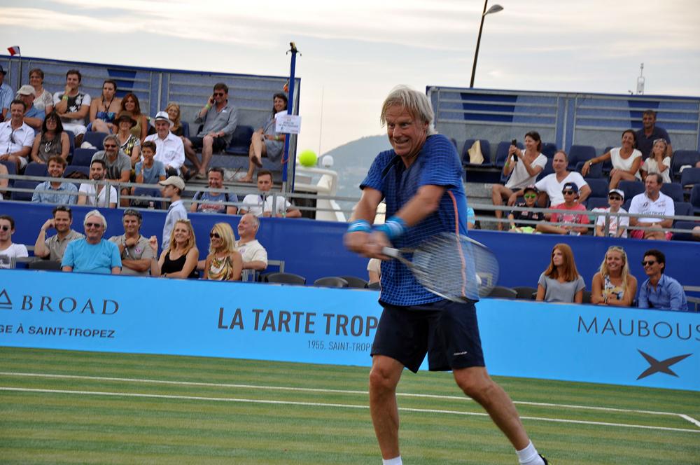 Saint-Tropez Classic Tennis Tour 2015 - Revers à deux mains pour Björn Borg