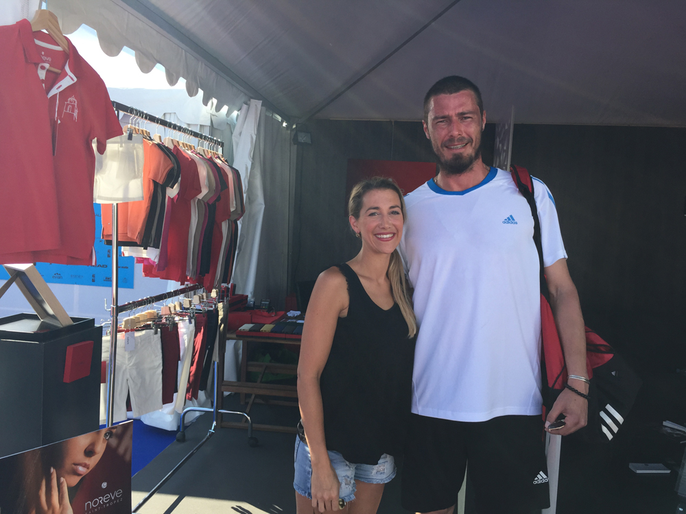 Saint-Tropez Classic Tennis Tour 2015 - Marat Safin sur le stand Noreve