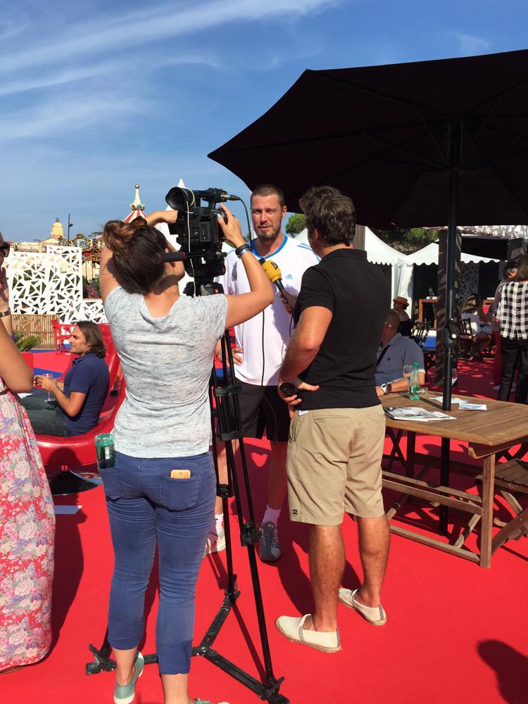Saint-Tropez Classic Tennis Tour 2015 - Arrivée de Marat Safin dans le village VIP
