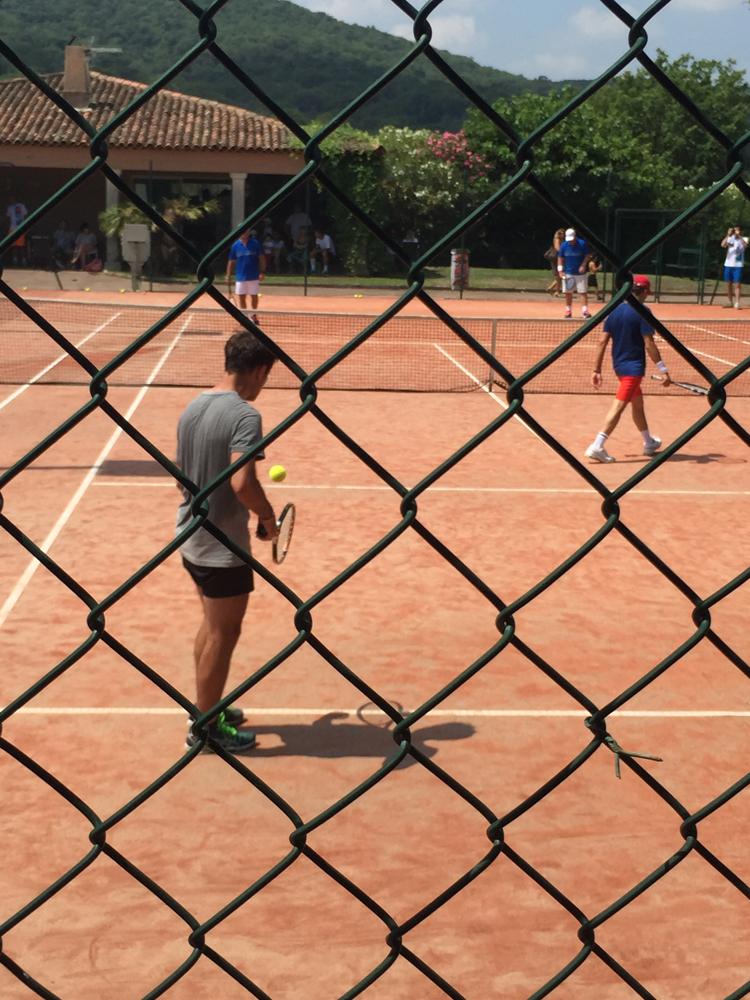 Saint-Tropez Classic Tennis Tour 2015 – Tournoi au Tennis Club de Saint-Tropez – Nagui & Fabrice Santoro VS La Team Head