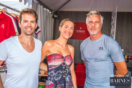 Saint-Tropez Classic Tennis Tour 2015 - David Ginola sur le stand Noreve