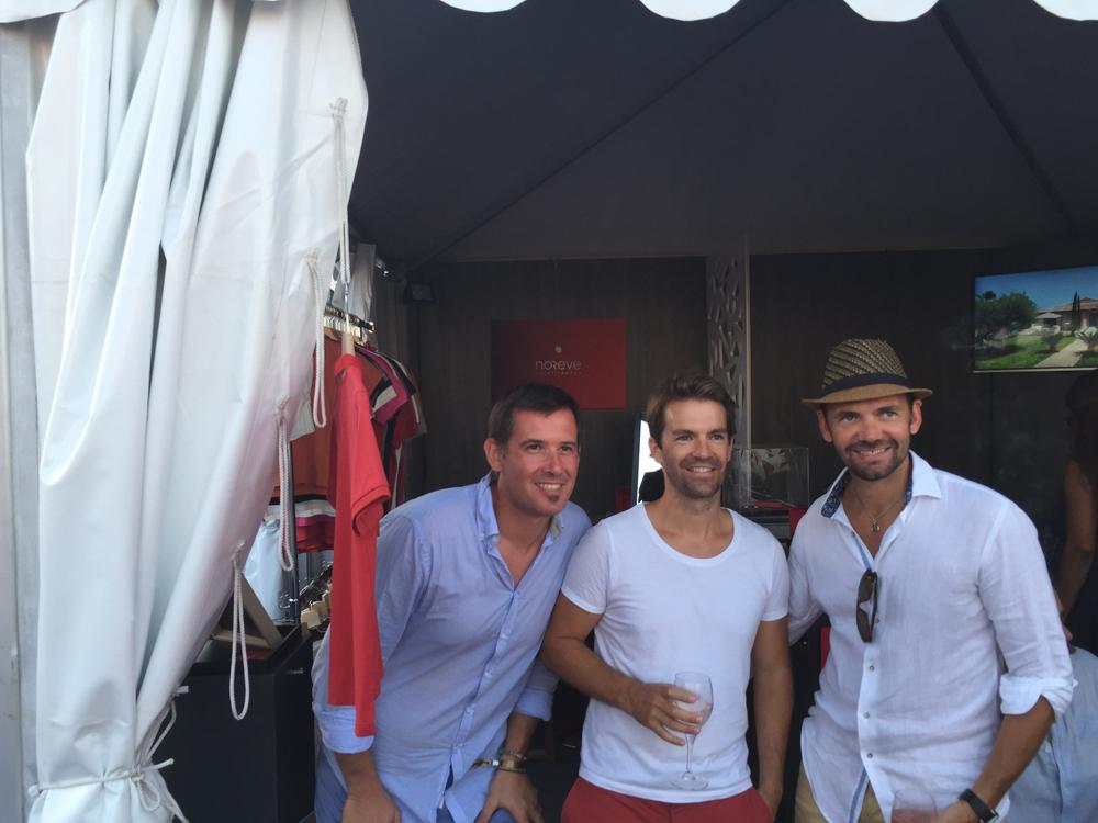 Saint-Tropez Classic Tennis Tour 2015 - Stand Noreve avec Benjamin Meiffret & Julien Fruitier (Noreve)