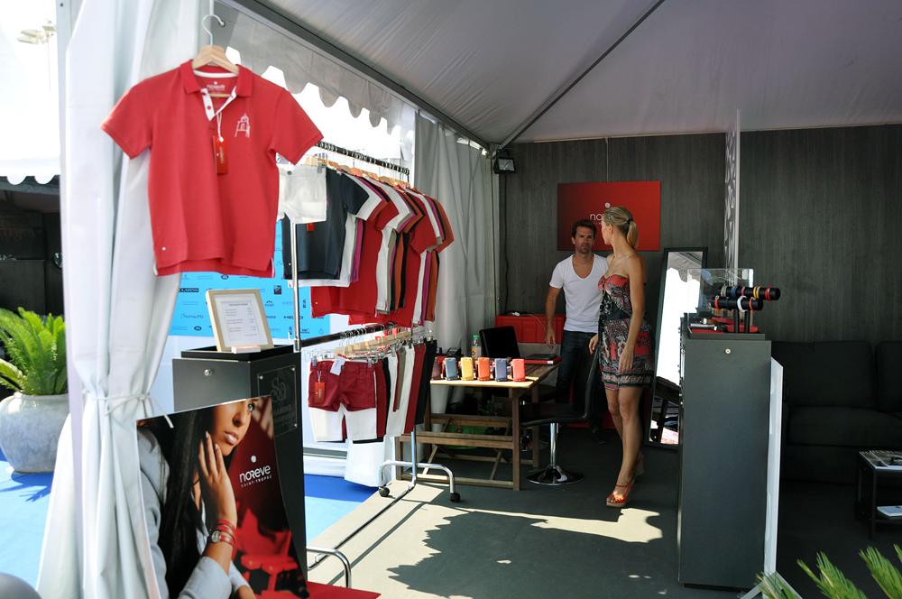 Saint-Tropez Classic Tennis Tour 2015 - Stand Noreve dans le village VIP