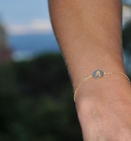 Bracelet en or jaune Le Clocher
