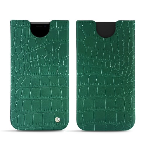 Premium Quality Leather Pouch for iPhone XR in Crocodile pino